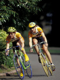 Bicycle Racers at Volunteer Park, Seattle, Washington, USA Lámina fotográfica por William Sutton