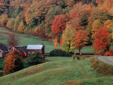 Charles Sleicher - Jenne Farm in the Fall, near Woodstock, Vermont, USA Fotografická reprodukce