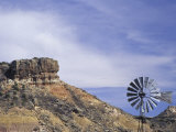 Windmill and Cliffs of Palo Duro Canyon State Park, Texas, USA Photographic Print by Darrell Gulin