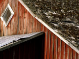 Detail of Red Barn, Whitman County, Washington, USA Photographie par Julie Eggers