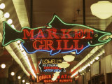Neon Signs in Pike Place Market, Seattle, Washington, USA Photographic Print by John & Lisa Merrill