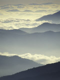 Mountains and Clouds, Tennessee, USA Photographic Print by Adam Jones