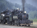 Antique Steam Locomotive, Elbe, Washington, USA Photographic Print by William Sutton