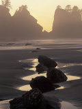 Tidepools and Seastacks, Shi Shi Beach, Olympic National Park, Washington, USA, Photographic Print