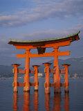 Torii Gate, Itsukushima Shrine, Miyajima Island, Honshu, Japan Photographic Print