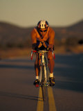 Road Biker, Santa Fe, New Mexico, USA Photographic Print by Lee Kopfler