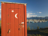 Outhouse and Boat Harbor, Homer, Kenai Peninsula, Alaska, USA Photographic Print by Walter Bibikow