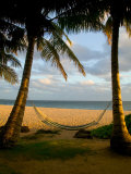 Ship Wreck Beach and Hammock, Kauai, Hawaii, USA Fotografiskt tryck av Terry Eggers
