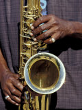 Musicians Hands Playing Saxaphone, New Orleans, Louisiana, USA Photographic Print by Adam Jones