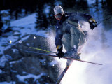 Skiing in Santa Fe, New Mexico, USA Photographic Print by Lee Kopfler