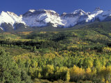 Fall Color and Landscape, Mt. Sneffels Wilderness, Colorado, USA Photographic Print by Gavriel Jecan