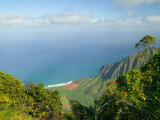 View to Na Pali Coastline, Kokee State Park, Kauai, Hawaii, USA Photographic Print by Terry Eggers