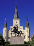 St. Louis Cathedral in French Quarter at Jackson Square, New Orleans, Louisiana, USA Photographic Print by Adam Jones