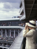 Lady's Hats, Derby Day at Churchill Downs Race Track, Louisville, Kentucky, USA Photographic Print by Michele Molinari