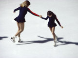 Figure Skaters Photographic Print