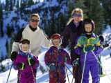 Family on the Slopes Photographic Print