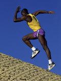 Running Uphill Photographic Print