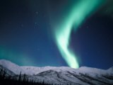 Curtains of Green Northern Lights Above the Brooks Range, Alaska, USA Fotografisk trykk av Hugh Rose