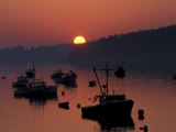 Lobster Boats in Harbor at Sunrise, Stonington, Maine, USA Photographic Print by Joanne Wells