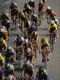Racing Cyclists Photographic Print