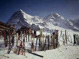 Kleine Scheidegg, Switzerland Fotografisk tryk