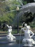 Fountain at Forsyth Park, Savannah, Georgia, USA Photographic Print by Adam Jones