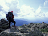 Backpacking on Gulfside Trail, Appalachian Trail, Mt. Clay, New Hampshire, USA Photographic Print by Jerry & Marcy Monkman