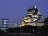 Osaka Castle and City Skyline, Osaka, Honshu, Japan Photographic Print