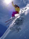 Bright Ski Scene Fotografisk tryk