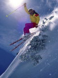 Bright Ski Scene Photographic Print