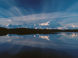 Mt. McKinley Reflecting In Reflection Pond, Denali National Park, Alaska, USA Fotodruck von Dee Ann Pederson