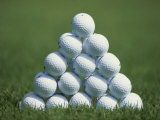 Golf Ball Pyramid Photographic Print