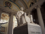Statue of Thomas Jefferson, Missouri History Museum, St. Louis, Missouri, USA Photographie par Connie Ricca