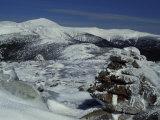Appalachian Trail in Winter, White Mountains' Presidential Range, New Hampshire, USA Fotografie-Druck von Jerry & Marcy Monkman