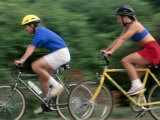 Couple Bicycling Photographic Print