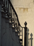 Wrought Iron Railing on Steps, Savannah, Georgia, USA Photographic Print by Julie Eggers
