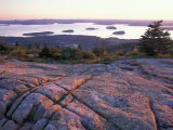 Grooves in the Granite on Summit of Cadillac Mountain, Acadia National Park, Maine, USA Fotografie-Druck von Jerry & Marcy Monkman