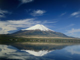 Lake Yamanaka, Mount Fuji, Japan Photographic Print