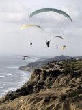 Paragliding, Torrey Pines, California, USA Photographic Print