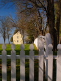 Distinctive Fence of Shaker Village of Pleasant Hill, Kentucky, USA Photographic Print by Adam Jones