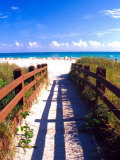 Boardwalk, South Beach, Miami, Florida, USA Fotodruck von Terry Eggers