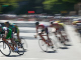 Bike Race, Downtown San Francisco, California, USA Photographic Print by Walter Bibikow