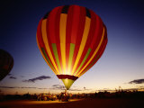 Dusk, Colorful Hot Air Balloon, Albuquerque, New Mexico, USA Photographic Print