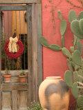 House Detail, Presidio Historic District, Tucson, Arizona, USA Fotoprint van Walter Bibikow