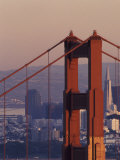 Golden Gate Bridge and San Francisco Skyline, California, USA Photographic Print by Paul Souders