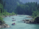 Rafters Along the Middle Fork of the Flathead River, Glacier National Park, Montana, USA Photographic Print by Jamie &amp; Judy Wild