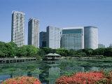 Shiodome Shiosite Hama Rikyu Japanese Garden Tokyo, Japan Photographic Print