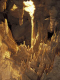 Stalactites and Stalagmites, Drapery Room, Mammoth Cave National Park, Kentucky, USA Photographic Print by Adam Jones