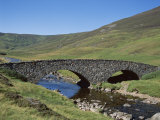 Stone Bridge and Rugged Hills, Glen Clunie, Braemar, Grampian, Scotland Photographic Print