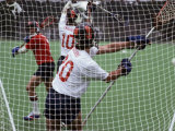 Playing Lacrosse Photographic Print